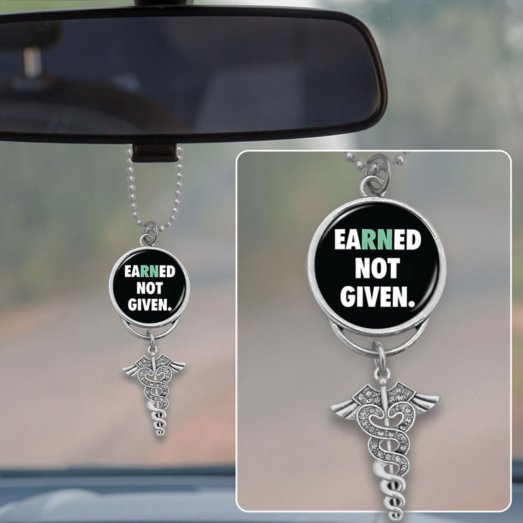 EaRNed Not Given Nurse Rearview Mirror Charm