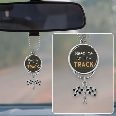 Meet Me At The Track Rearview Mirror Charm