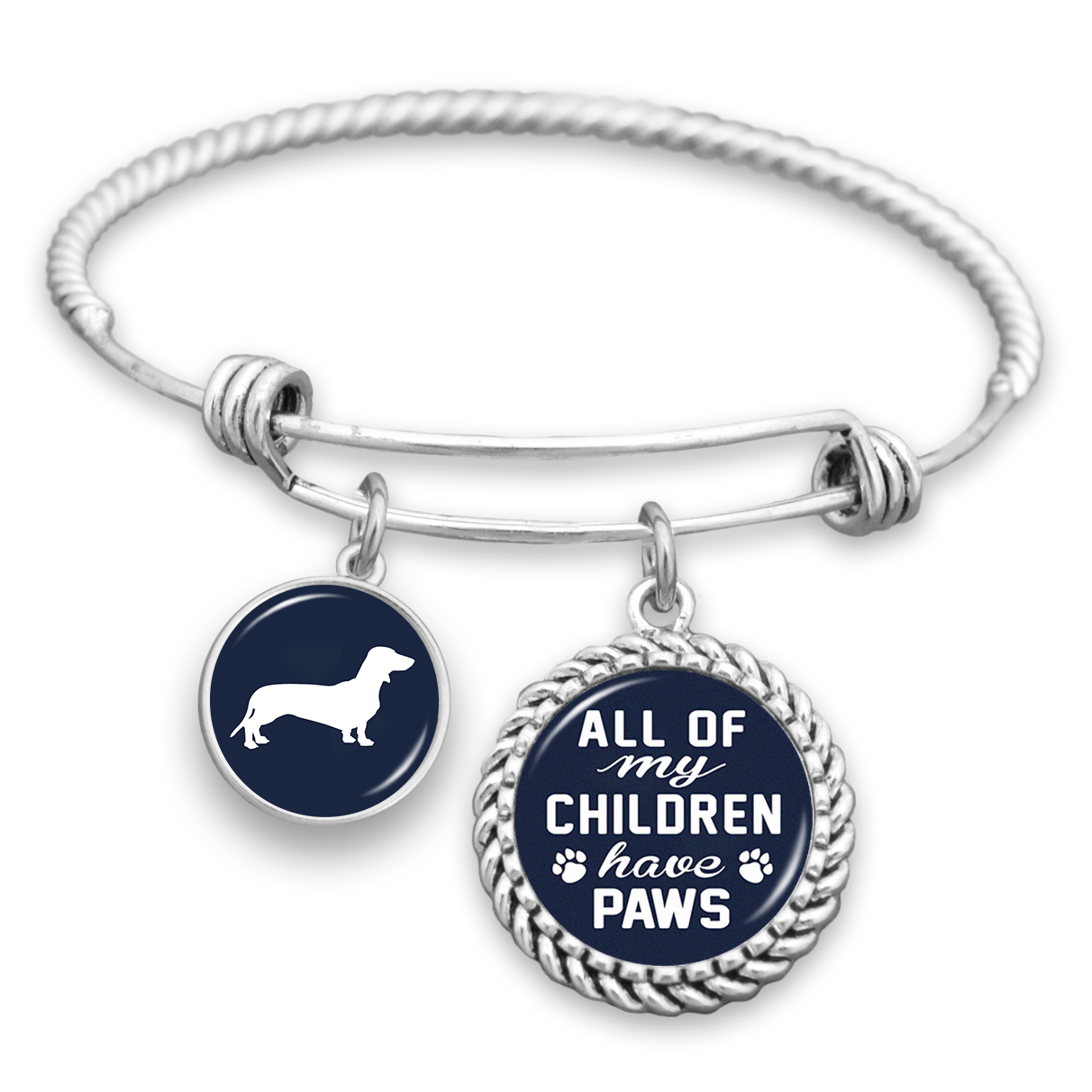 0fa1ce8e4556b All Of My Children Have Paws Dachshund Charm Bracelet