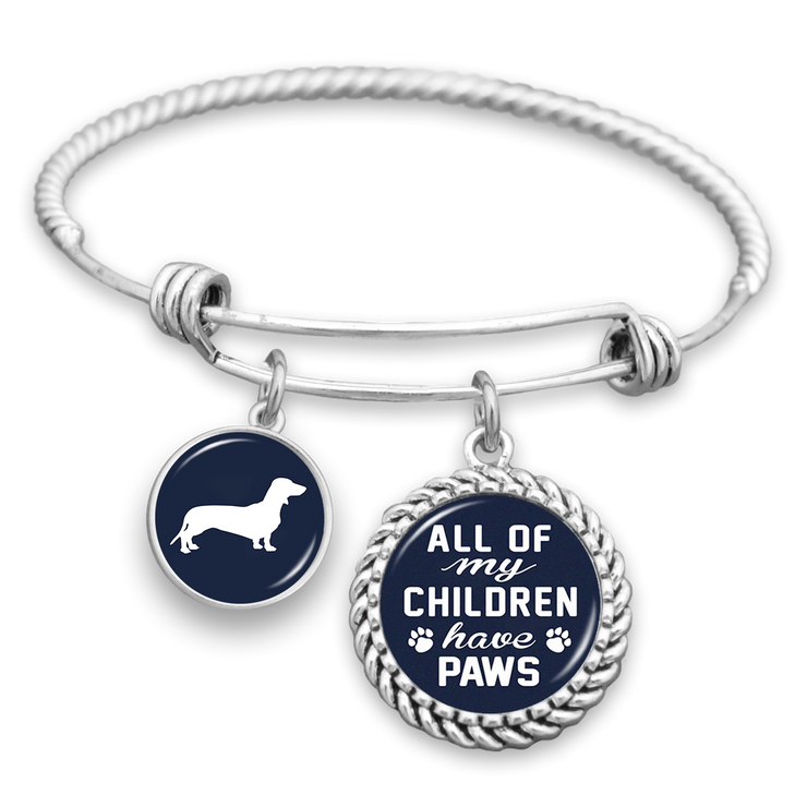 All Of My Children Have Paws Dachshund Charm Bracelet