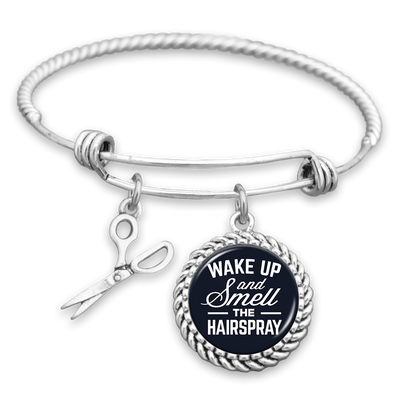 Wake Up And Smell The Hairspray Charm Bracelet