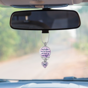 Butterflies Are The Heaven Sent Kisses Of An Angel Rearview Mirror Charm