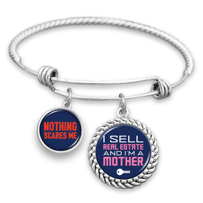 Real Estate Mother Nothing Scares Me Charm Bracelet