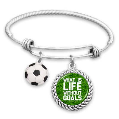 What Is Life Without Goals Soccer Charm Bracelet