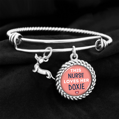 This Nurse Loves Her Dachshund Charm Bracelet