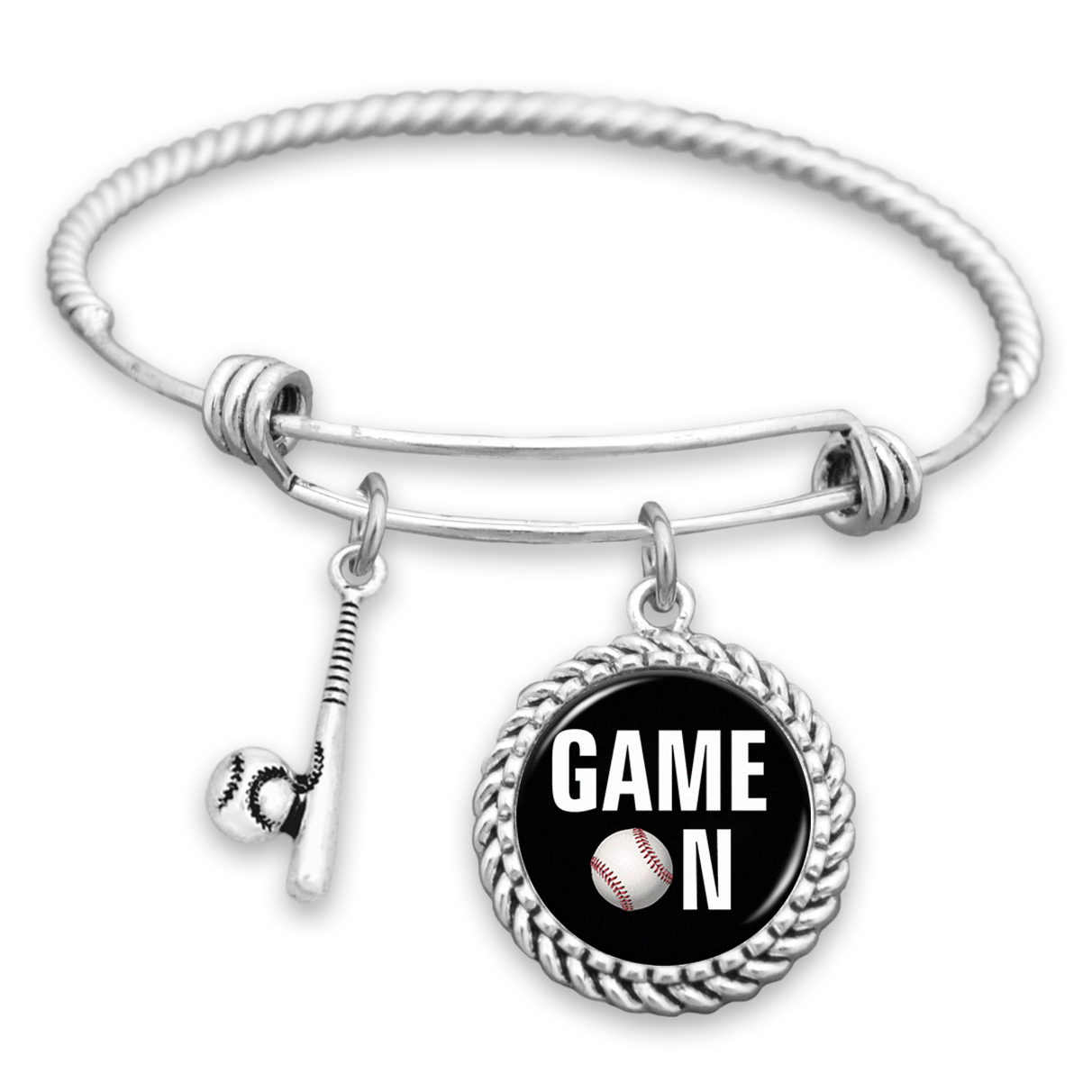 Baseball Charm Bracelet: Game On Baseball Charm Bracelet