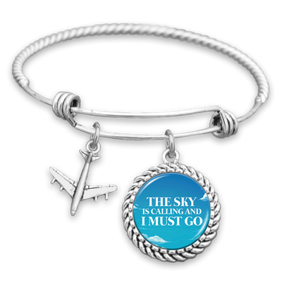 The Sky Is Calling And I Must Go Charm Bracelet