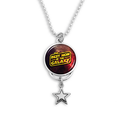 Best Mom In The Galaxy Rearview Mirror Charm