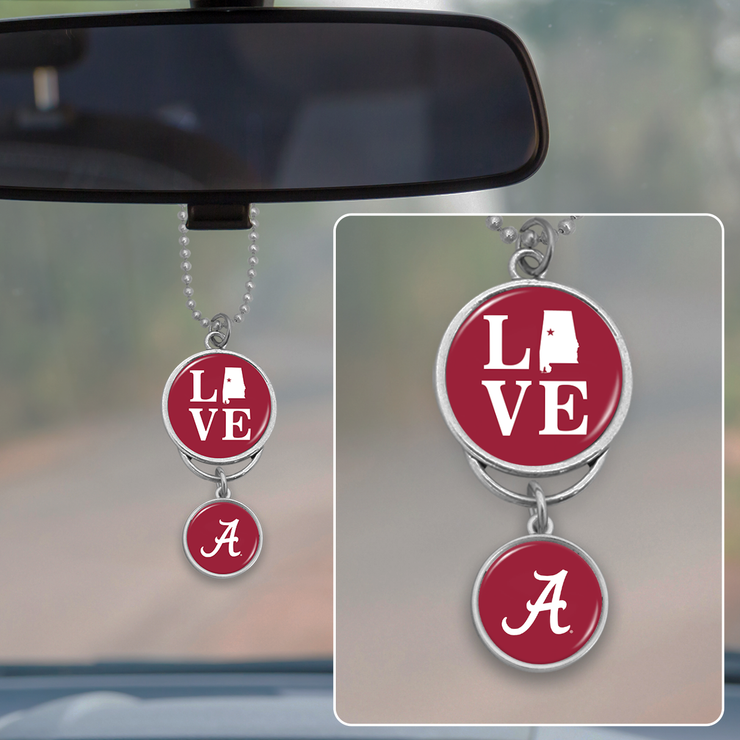 Alabama Crimson Tide Love Rearview Mirror Charm