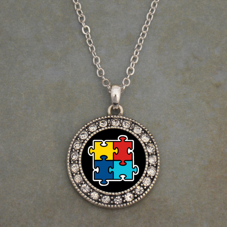 Autism Awareness Puzzle Icon Necklace