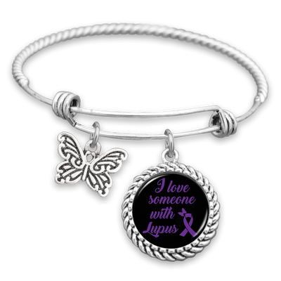 I Love Someone With Lupus Charm Bracelet