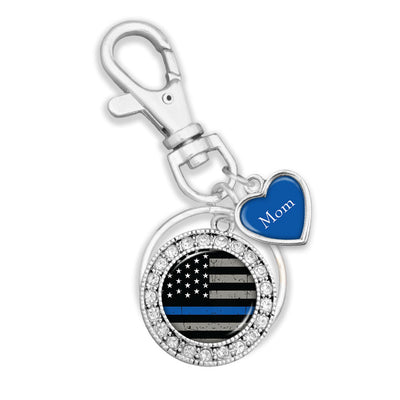 Customizable Thin Blue Line Police Key Chain