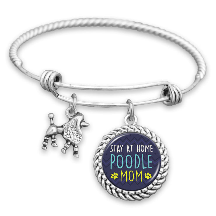 Stay At Home Poodle Mom Charm Bracelet