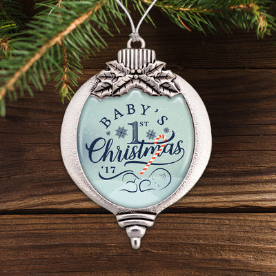 Baby's First Christmas 2017 Bulb Ornament