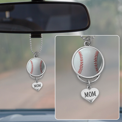 Mom Baseball Rearview Mirror Charm