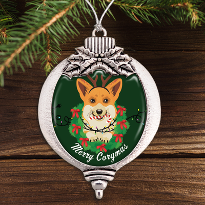 Merry Corgmas Bulb Ornament