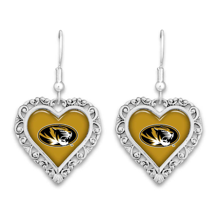 Missouri Tigers Official Lace Trim Earrings