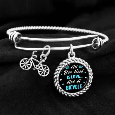 All You Need Is Love And A Bicycle Charm Bracelet