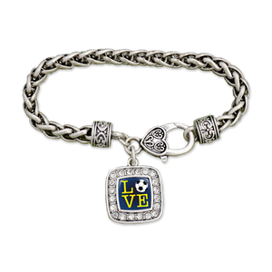 LOVE Soccer Clamp Bracelet