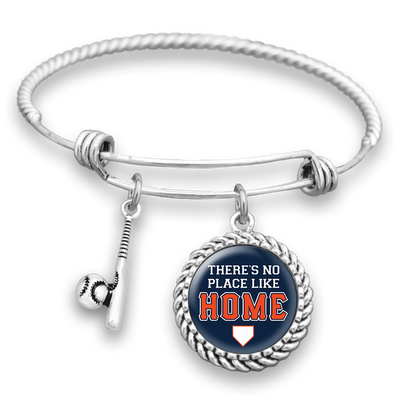 Detroit There's No Place Like Home Baseball Charm Bracelet