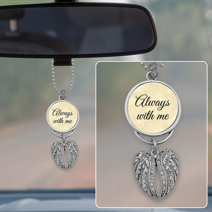 Always With Me Angel Wings Rearview Mirror Charm