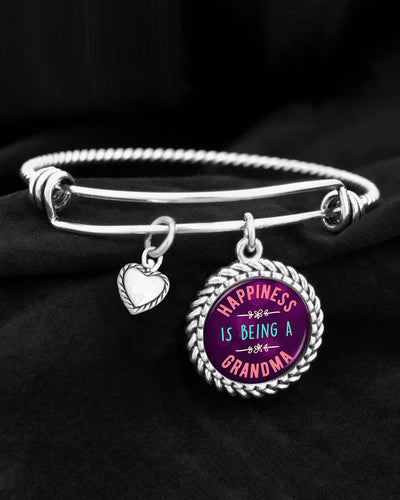 Happiness Is Being A Grandma Charm Bracelet