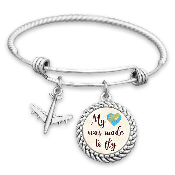 My Heart Was Made To Fly Charm Bracelet