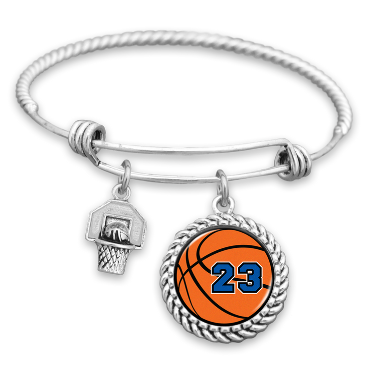 Basketball Personalized Number Charm Bracelet