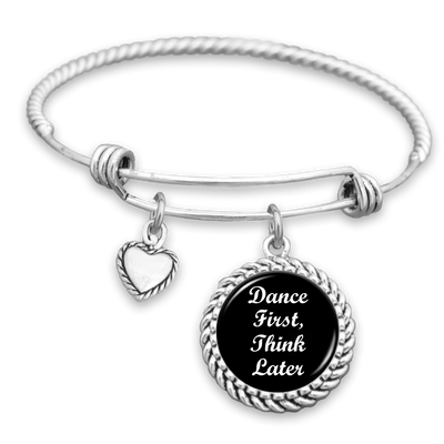 Dance First, Think Later Charm Bracelet