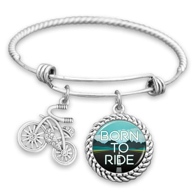 Born To Ride Bicycle Charm Bracelet