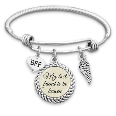 My Best Friend Is In Heaven Charm Bracelet