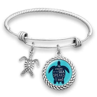 The Voice Of The Sea Speaks To The Soul Charm Bracelet