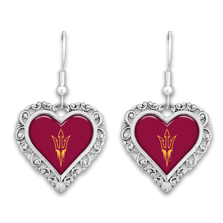 Arizona State Sun Devils Official Lace Trim Earrings