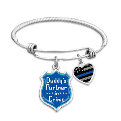 Daddy's Partner In Crime Charm Bracelet