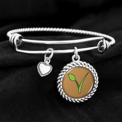 V Is For Vegan Charm Bracelet
