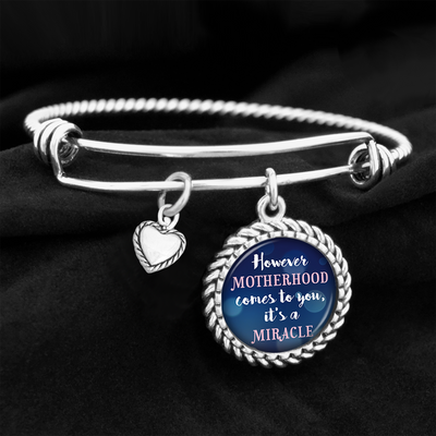 Motherhood Is A Miracle Charm Bracelet