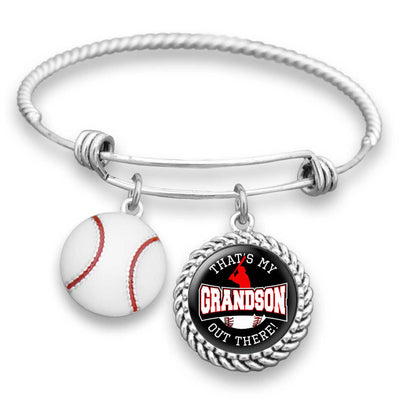 "Baseball ""That's My Grandson Out There"" Bracelet for Grandmas"