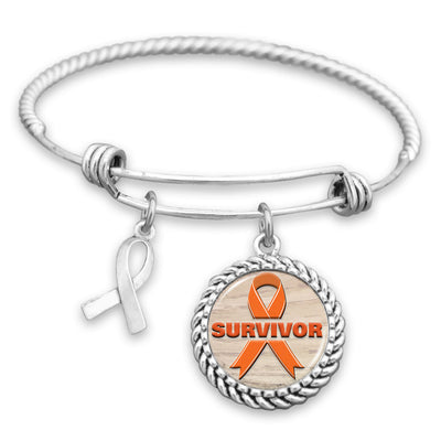 Survivor Leukemia Charm Bracelet
