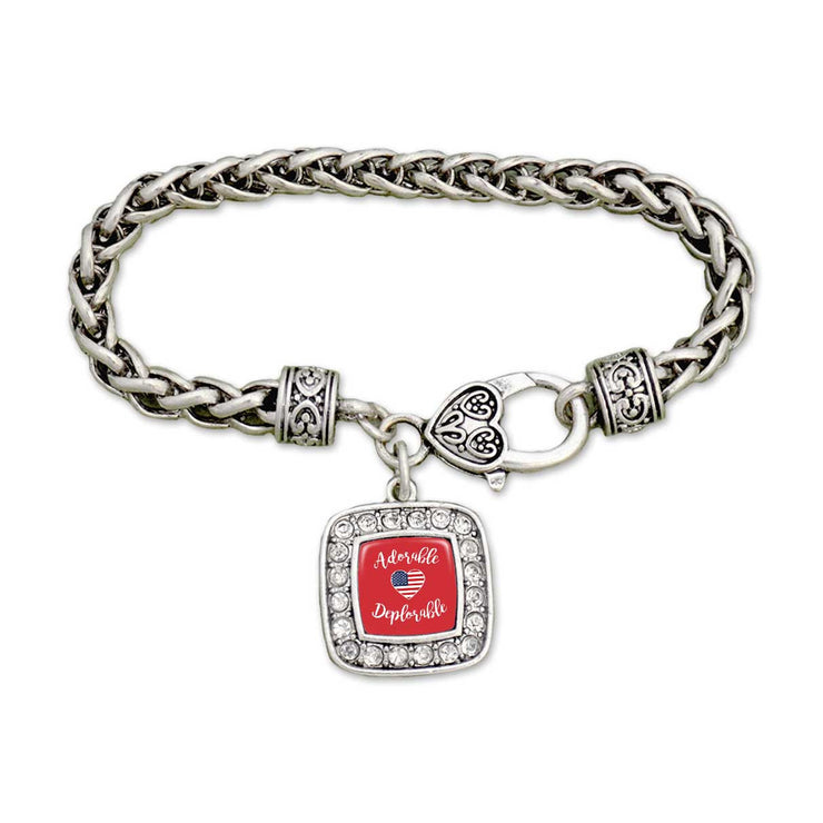 "Trump ""Adorable Deplorable"" Clasp Bracelet"