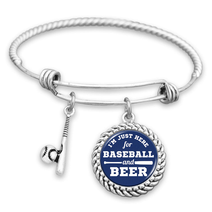 Los Angeles I'm Just Here For Baseball And Beer Charm Bracelet