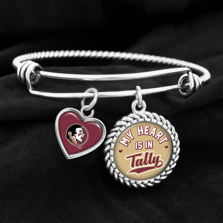 My Heart Is In Tally Seminoles Charm Bracelet
