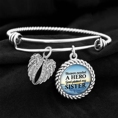 Heaven Needed A Hero Sister Charm Bracelet