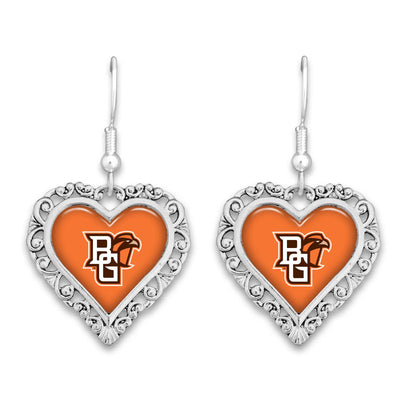 Bowling Green State Falcons Official Lace Trim Earrings