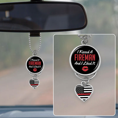 Kissed A Fireman Rearview Mirror Charm