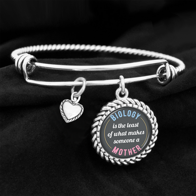 What Makes Someone A Mother Charm Bracelet