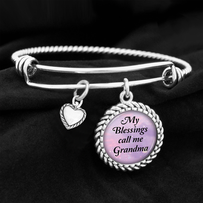 My Blessings Call Me Grandma Charm Bracelet