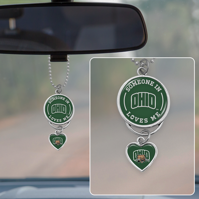 Someone Loves Me Ohio Bobcats Rearview Mirror Charm