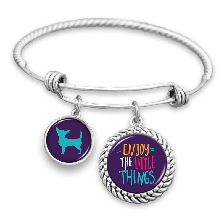 Enjoy The Little Things Chihuahua Charm Bracelet