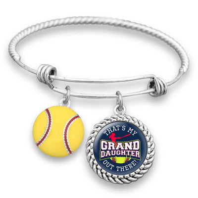 "Softball ""That's My Granddaughter Out There"" Bracelet for Grandmas"