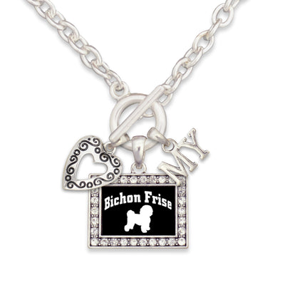 Bichon Frise Dog 3 Charm Necklace